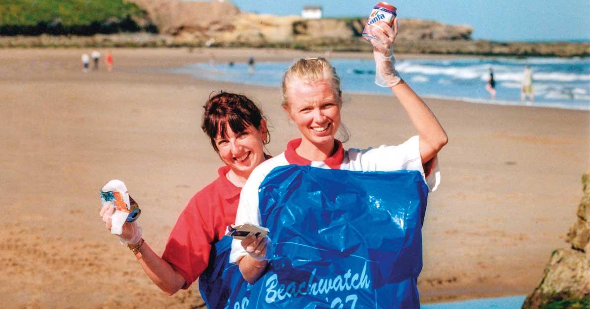La plage de Tynemouth est propre en 1997