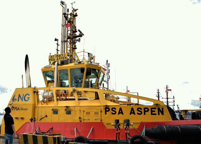 PSA Aspen - Le premier remorqueur portuaire à double carburant de GNL de PSA Marine