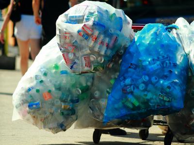 Déchets en plastique