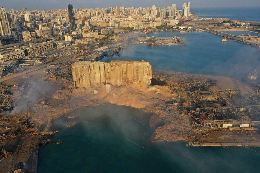 Photo du port de Beyrouth après l'explosion - Sarah Abdallah