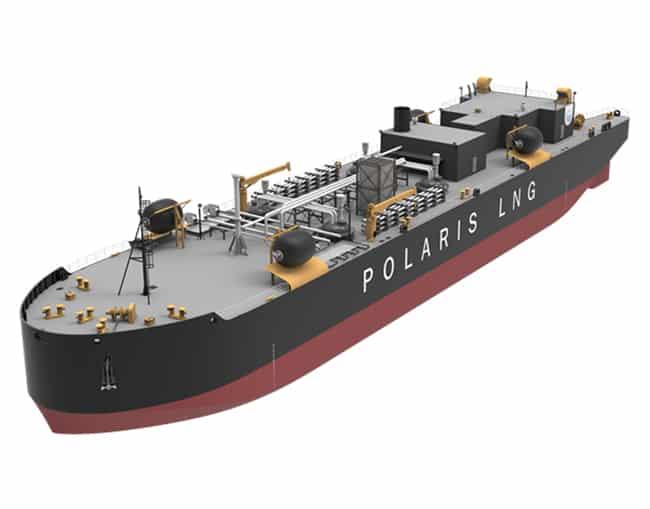 """Polaris-LNG-Bunkering-barge.-Les-quatre-citernes-de-cargaison-seront-installées-sous-le-pont.-Seuls-les-dômes-seront-visibles-après-l'installation-terminée """"width ="""" 650 """"height ="""" 509 """"srcset ="""" https://www.marineinsight.com/wp-content/uploads/2020/09/Polaris-LNG-Bunkering-barge.-The-four-cargo-tanks-will-be- installé sous le pont.-Seuls-les-dômes-seront-visibles-après-l'installation-terminée.jpg 650w, https://www.marineinsight.com/wp-content/uploads/2020/09/Polaris- LNG-Bunkering-barge.-Les-quatre-citernes-de-cargaison-seront-installes-sous-le-pont.-Seuls-les-dômes-seront-visibles-une-fois-l'installation-terminée-300x235.jpg 300w """"data -lazy-tailles = """"(largeur-max: 650px) 100vw, 650px"""" src = """"https://www.marineinsight.com/wp-content/uploads/2020/09/Polaris-LNG-Bunkering-barge.-The -Quatre-citernes-à-cargaison-seront-installées-sous-le-pont.-Seuls-les-dômes-seront-visibles-après-l'installation-terminée.jpg """"/><noscript><img aria-describedby="""