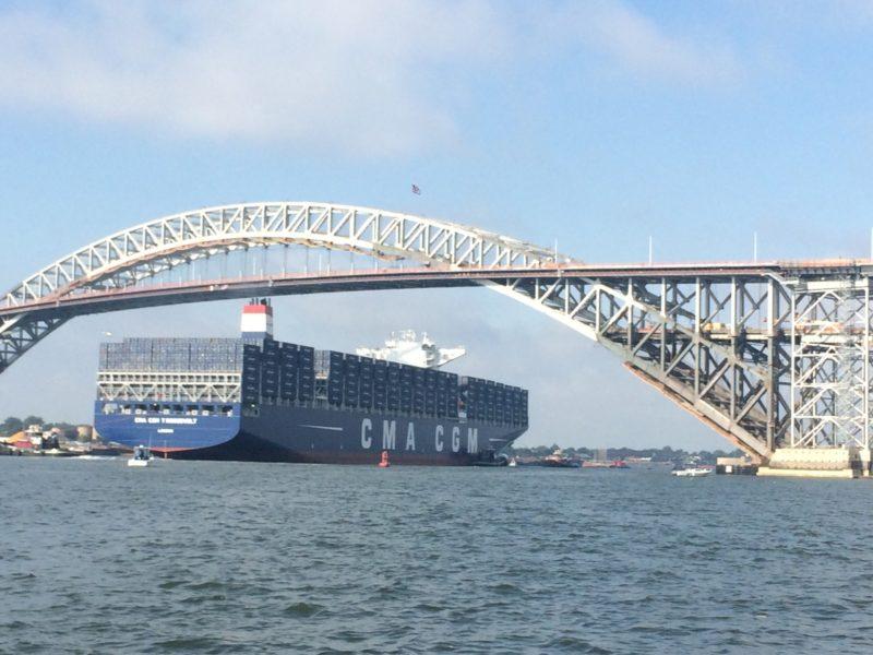 pont de bayonne gros navires