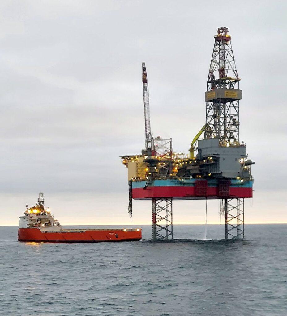 Gréement auto-élévateur Maersk Resilient - Serica Energy