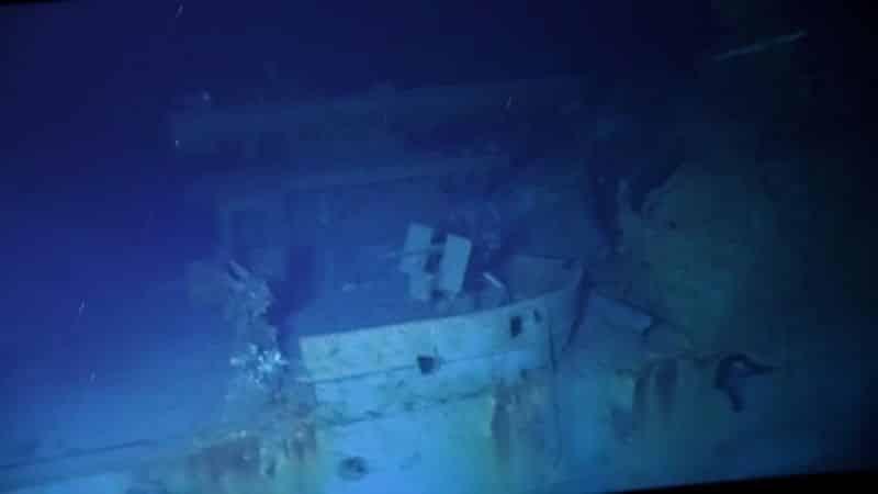 World War 2 US Navy destroyer USS Johnston
