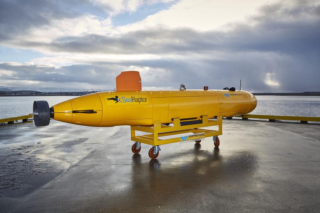 Photo montrant l'AUV en eau profonde du SeaRaptor 6000 (avec l'aimable autorisation d'Argeo)
