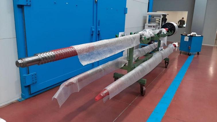 Photo montrant le prototype EMG dans la zone d'assemblage de l'usine d'UmbraGroup (avec l'aimable autorisation d'IMAGINE)