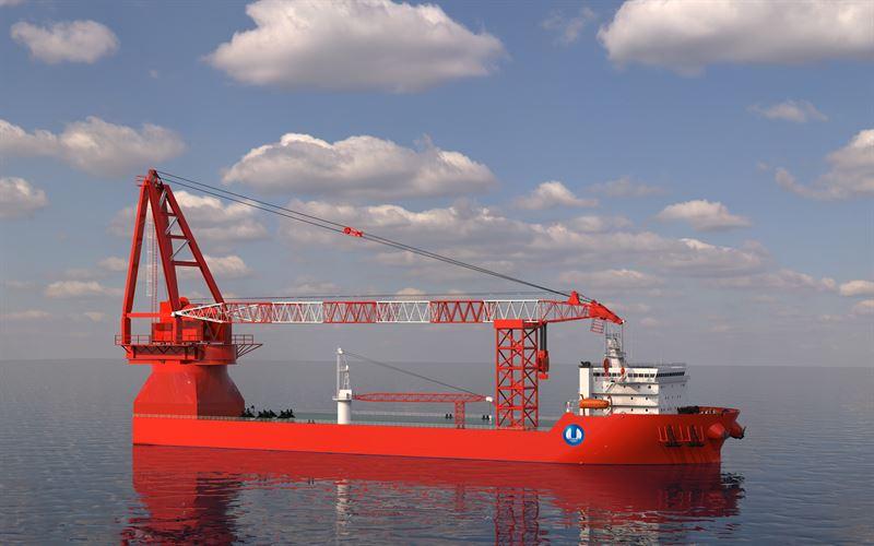 Navire de transport lourd de 3000T équipé des propulseurs Wärtsilä WST32 et WTT28 © MARIC