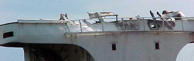 Dommages au pont de Windoc