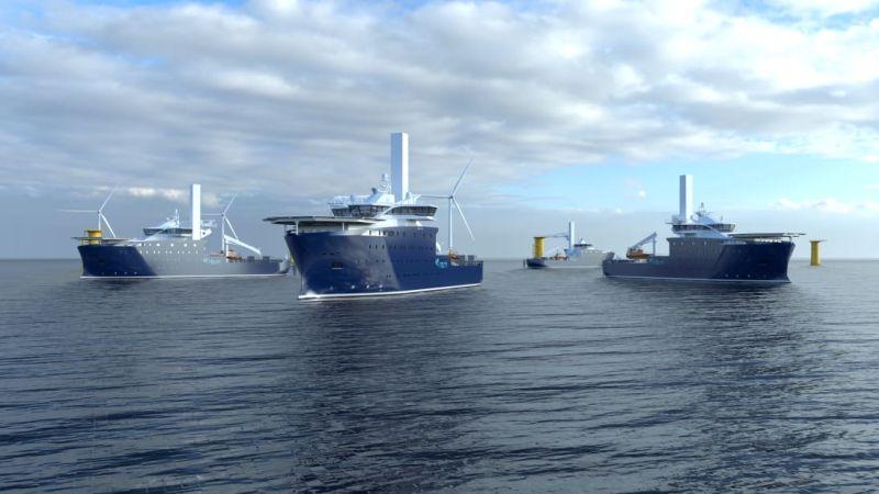 Kongsberg Maritime fournira une propulsion PM hautement efficace pour les nouveaux navires de service pour parcs éoliens de Rem Offshore